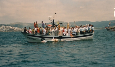 Religious procession by sea