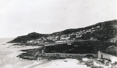 Corme view from O Osmo beach, 1940
