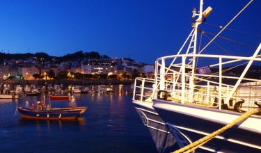 Port of Corme night view
